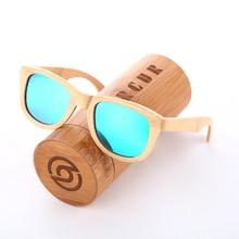 BARCUR 2016 Real Polarized Wood Bamboo Sunglasses Women Men Custom Logo 100% Handmade Square Eyewear Gift Wooden-Sunglasses