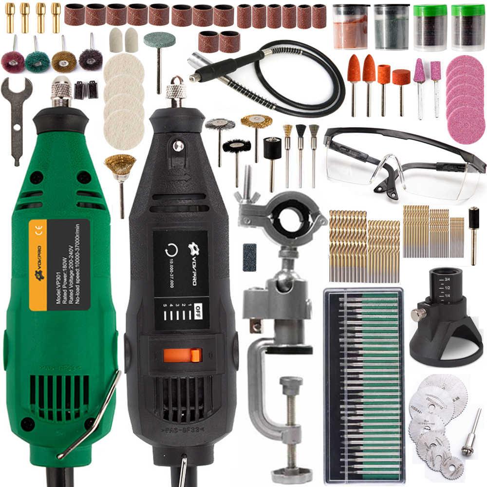 Mini ferramentas de broca elétrica dremel com acessórios do eixo flexível broca ferramentas elétricas gravador energia para gravura perfuração