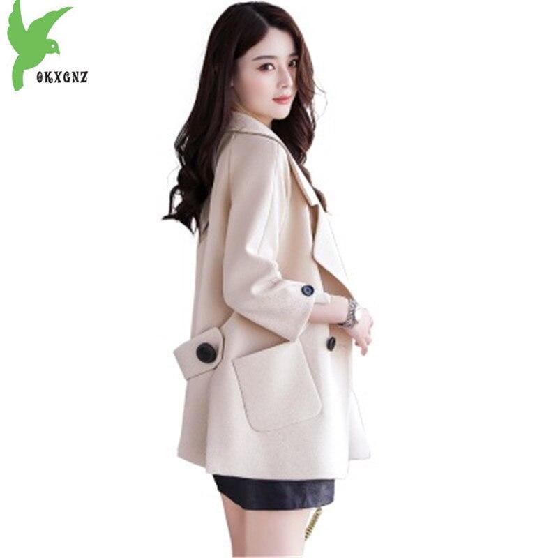 2018 Women Spring Autumn Trench Coats Fashion Slim Short paragraph Windbreaker Plus size Female Boutique Outerwear OKXGNZ A1435