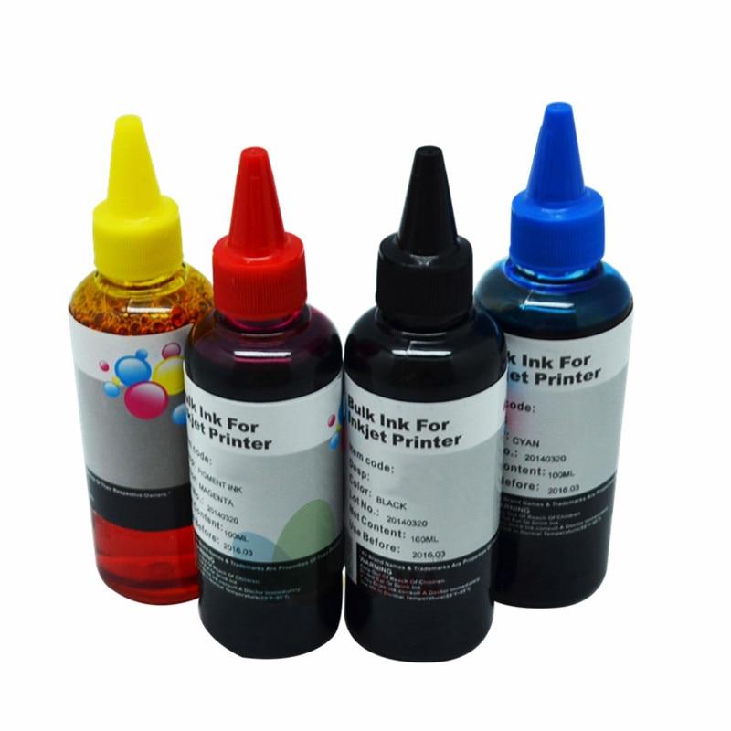 400ML Universal Refill Ink kit for Epson Canon HP Brother Lexmark DELL Kodak Inkjet Printer CISS