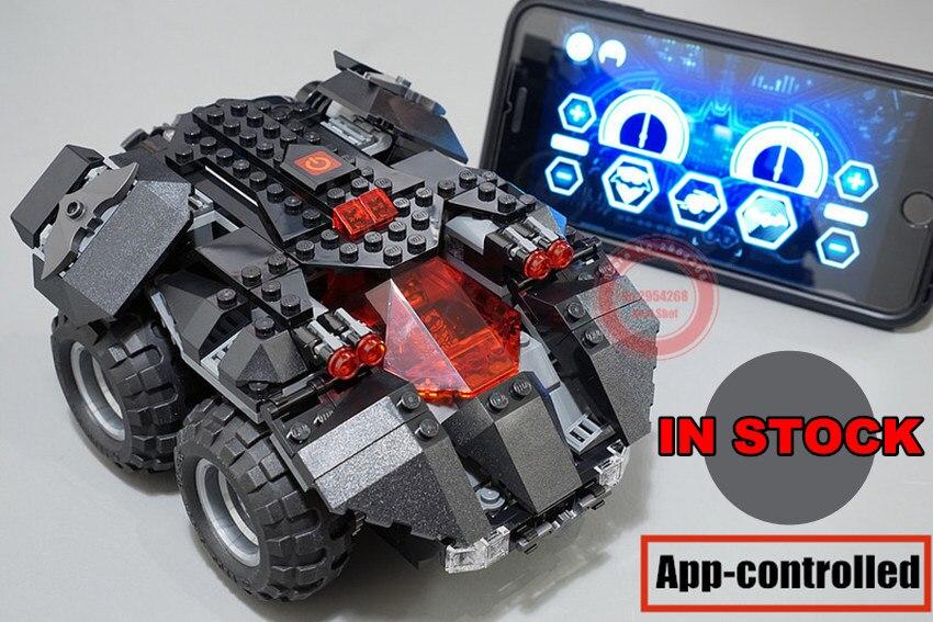 Nouveau Super-Héros app-contrôlée Batmobile fit legoings batman technique voiture puissance du moteur fonction Building Block Briques jouet Cadeau enfant