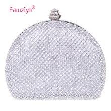 Fawziya Handtasche Braut Halbmondform Kupplung Geldbeutel Für Frauen Mini Kristall Clutch Abendtasche
