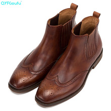 Winter Men Boots Genuine Cow Leather Men Winter Shoes Ankle Cowboy Boots For Men Shoes Chelsea Boots