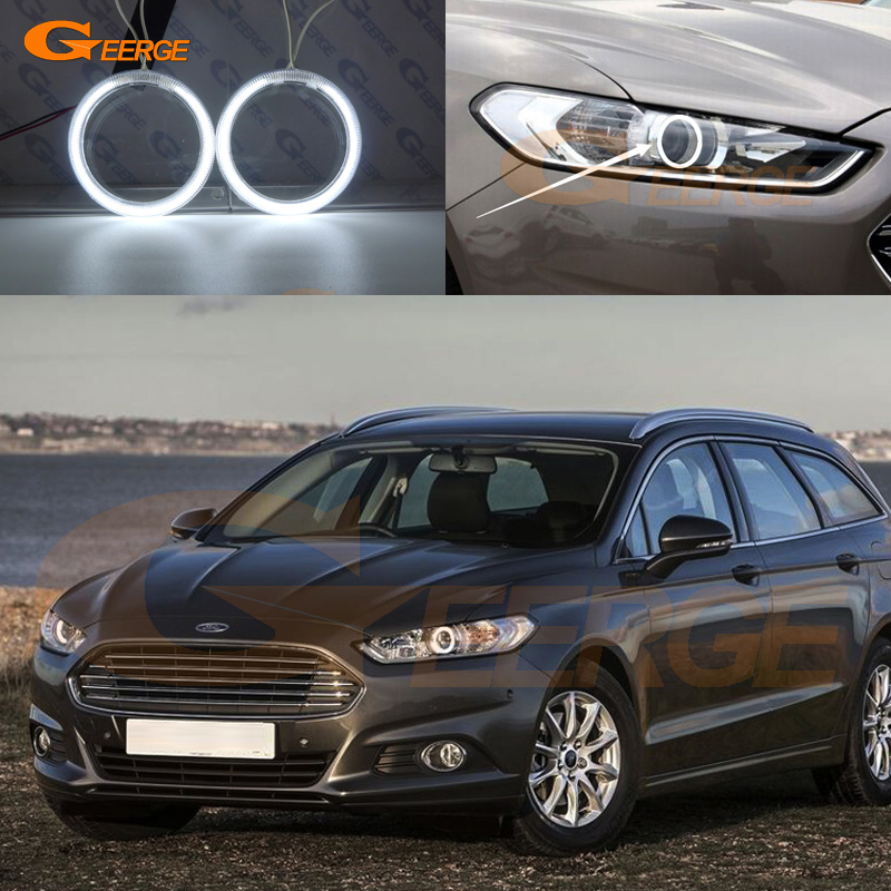 For Ford Mondeo Fusion 2013 2014 Excellent angel eyes Ultra bright headlight illumination CCFL Angel Eyes kit Halo Ring