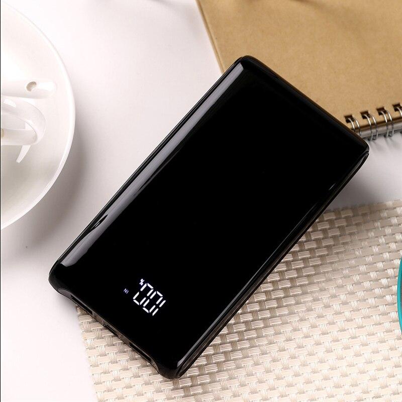 Nouveau Style 10000 mAh batterie externe écran d'affichage numérique 18650 puissance Mobile type-c charge trésor Powebank pour iPhone Xiaomi