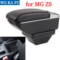 for MG ZS armrest box universal car MG ZS center console caja modification accessories double raised with USB