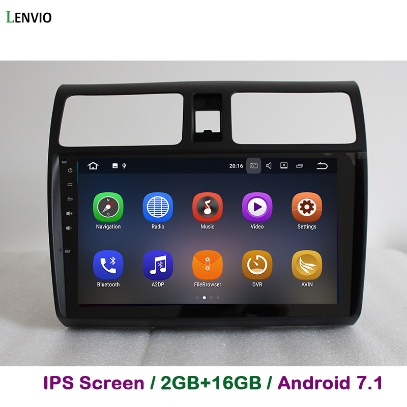 Lenvio 2G RAM <font><b>Android</b></font> 7.1 CAR DVD player For <font><b>Suzuki</b></font> <font><b>Swift</b></font> 2006 2007 <font><b>2008</b></font> 2009 2010 Stereo Auto radio GPS Navigation multimedia image