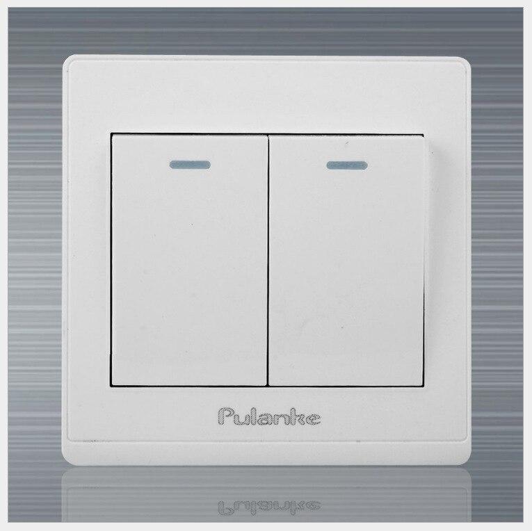 20pcs  Lot  White Wall Switch Panel  Lamp Light Switch 2