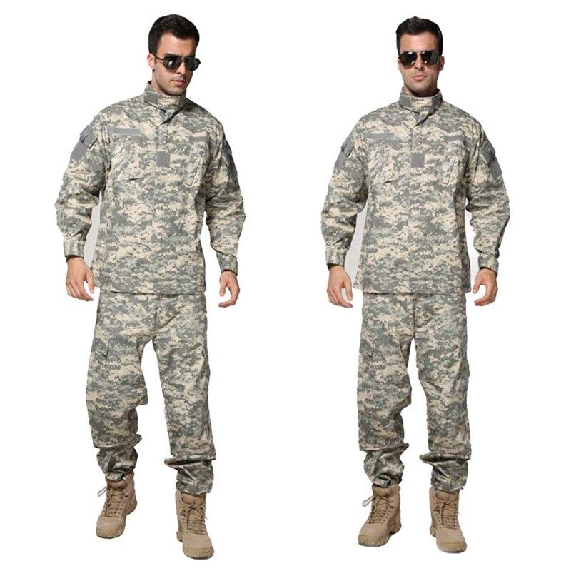Tactical Airsoft Uniform ACU Digital Camouflage Suit Combat Hunting Clothing Set Training Uniform