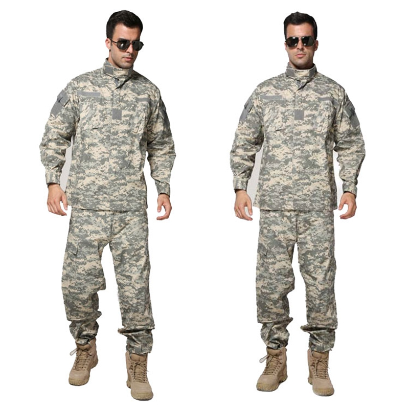 купить Tactical Airsoft Uniform ACU Digital Camouflage Suit Combat Hunting Clothing Set Training Uniform по цене 2704.94 рублей