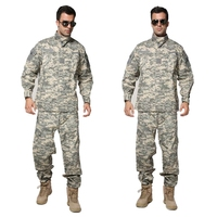 Tactical Airsoft Uniform ACU Digital Camouflage Suit Combat Hunting Clothing Set Training Uniform