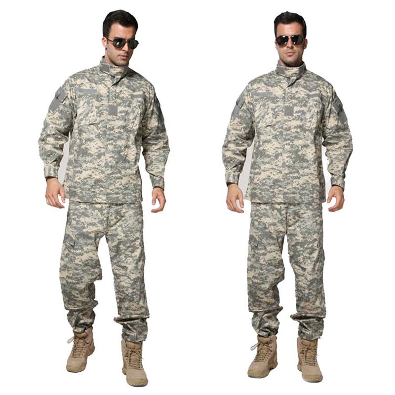 Prix pour Tactique Airsoft Uniforme ACU Numérique Camouflage Costume Combat Chasse Vêtements de Formation Ensemble Uniforme