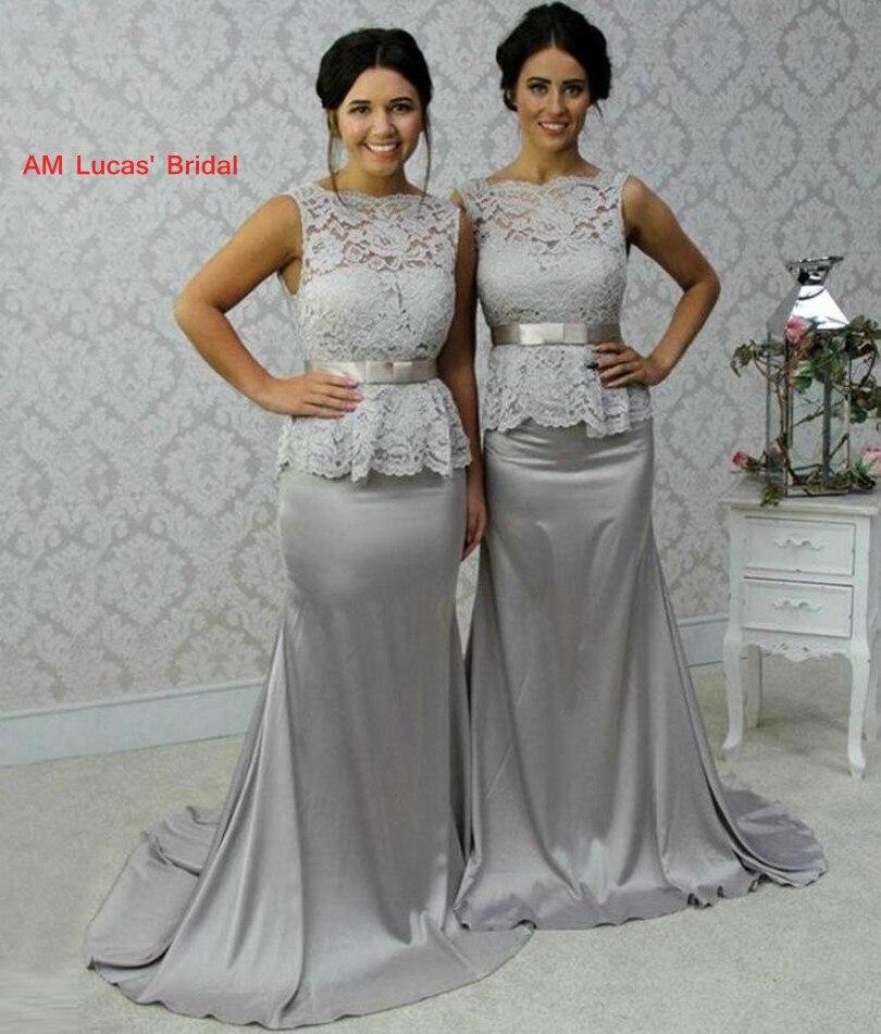 2019 New   Bridesmaid     Dresses   Lace Floor Length Chiffon Wedding Party   Dress