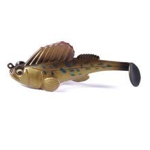 YUZI 1PCS Dark Sleeper Swimbaits soft lure 3 inch 3/8oz fishing pike bass Deep Running Paddle Tail Swimbait lead jig leurre