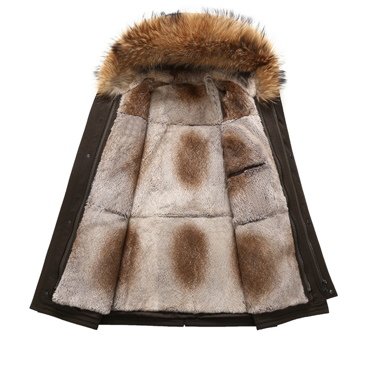 2 Fur Winter Jackets Mens Super Warm Parkas Camel Hairs Filling with Raccoon Hood big fur winter coat thicken parka