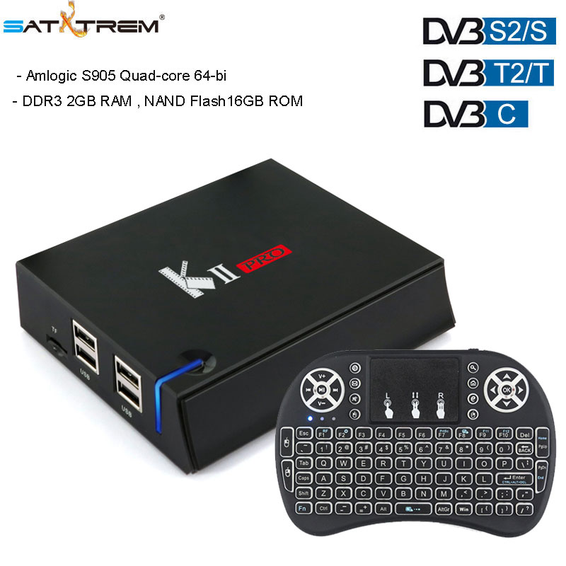 Android tv box KII PRO DVB-S2&T2 Amologic S905D Quad Core Android 7.1 TV Box 2GB 16GB ROM K2 pro 1080P 4K H.265 Media player kii pro android 5 1 1 tv box built in 2 4g