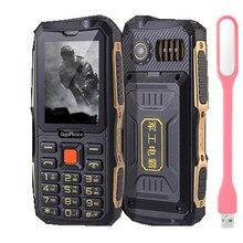 "GuoPhone V3 Telefon 4 Sim-karte Telefon Quad Sim Karte Telefon staubdicht Stoßfest 2,4 ""Zoll Vier SIM Telefon (Kostenloses add Russische Tastatur)"