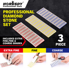 HORUSDY 3pc Diamond Sharpening Professional Knife Sharpener Tungsten Steel Carbide Ceramic Kitchen Tool