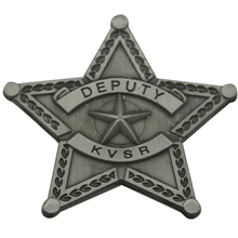 Antique Silver badges cheap custom 3D deputy Badge with Butterfly Clasp low price metal military