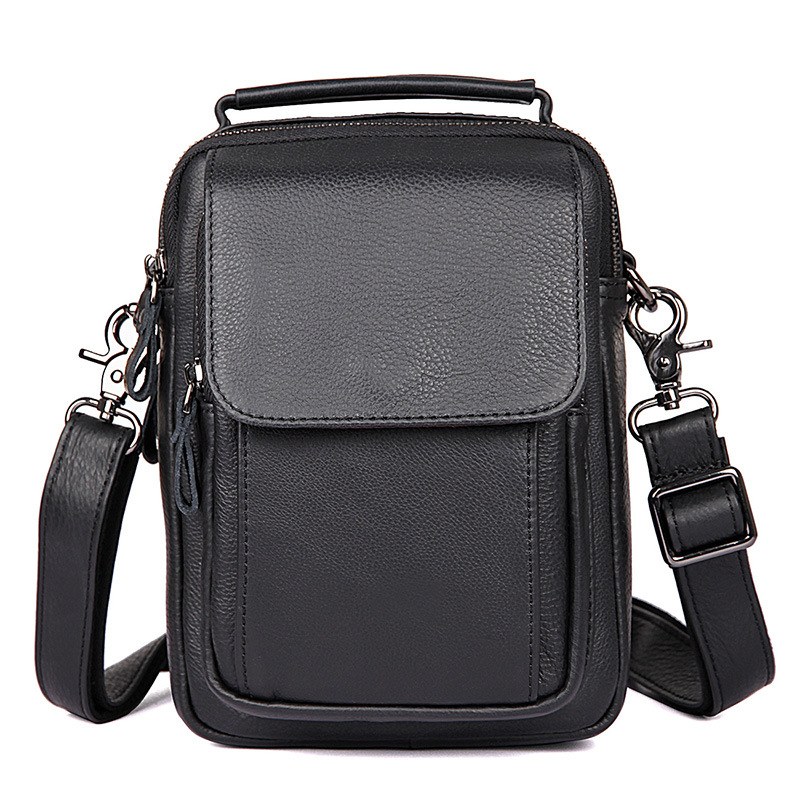 Vintage genuine Leather shoulder bag men natural leather casual small messenger bag Business high quality crossbody