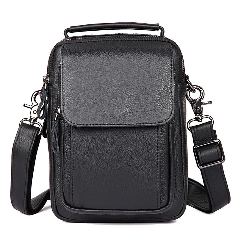 Vintage genuine Leather shoulder bag men natural leather casual small messenger bag Business high quality crossbody bag #J1032