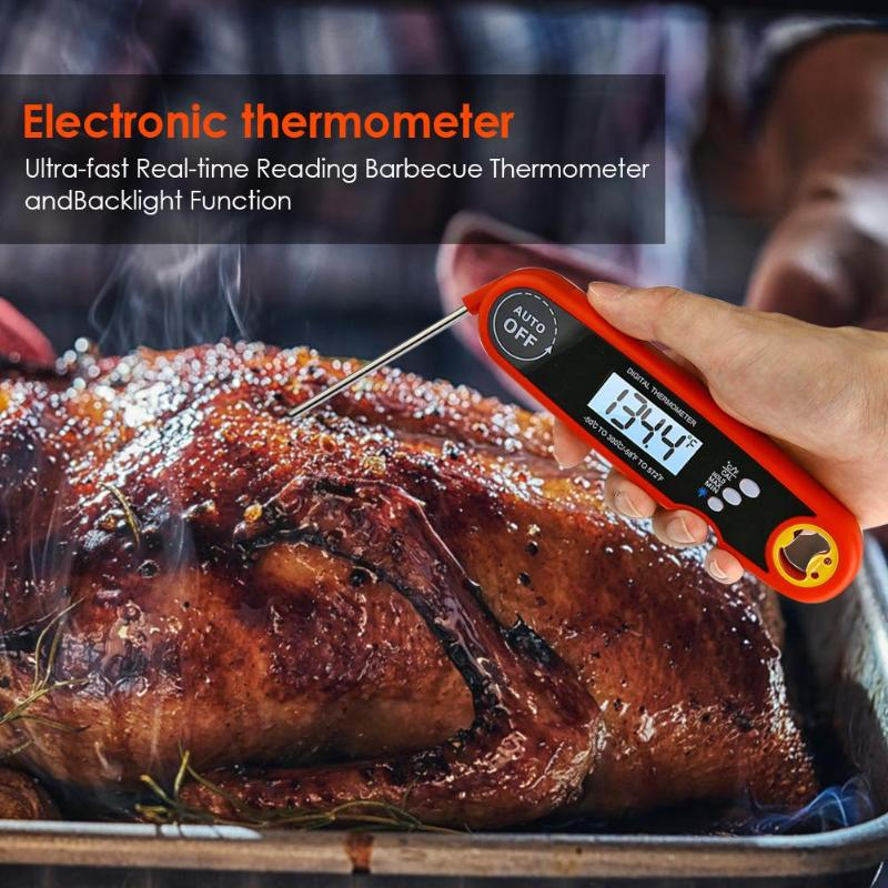 New Digital Meat Thermometer BBQ Electronic Waterproof Cooking Food Thermometer Probe Kitchen Oven Water Milk Thermometer Tool in Sticks from Home Garden