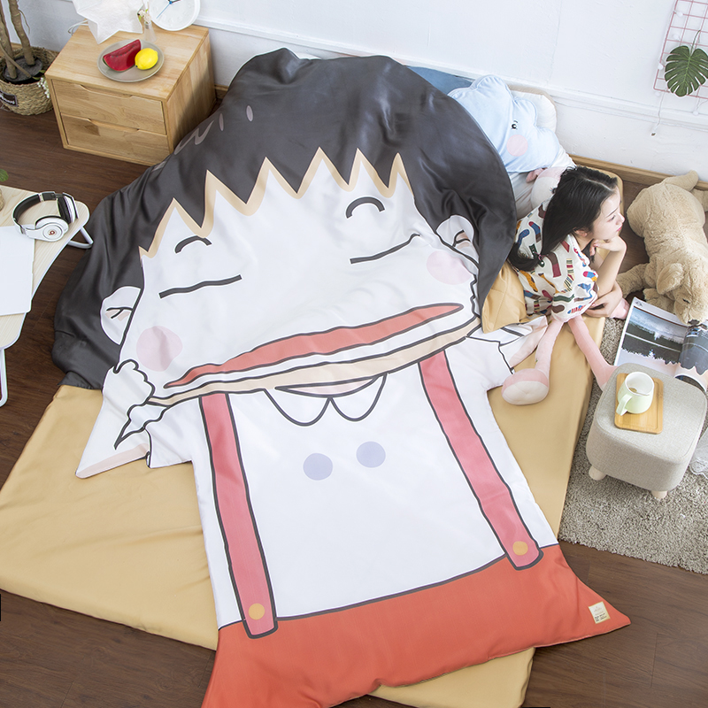 Chi bi Maruko Cartoon Summer Cool Blanket Air Conditioning Cover Comforter Children Adult Anime Strange Shape Cool Blanket in Blankets from Home Garden