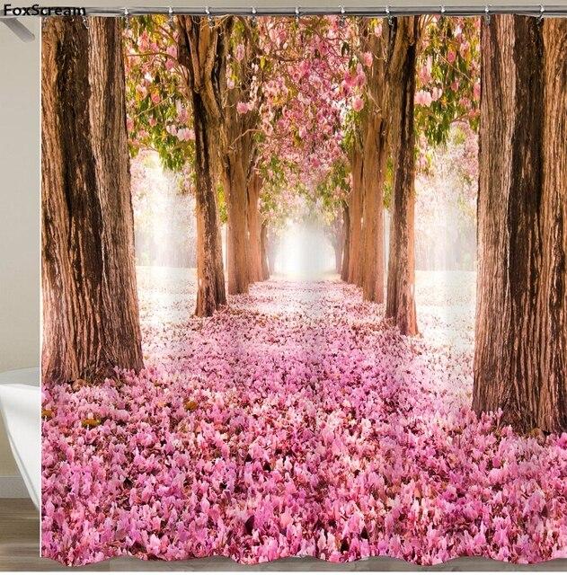 2019 Scena Versione Multi-stili 3D HD Digital Stampato Tende da Doccia Impermeab