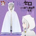"""Living in a different world from zero """"anime show clothes emilia cat ears shawl cloak Cosplay costume, free shipping"""