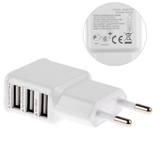 5V 2A EU Multi USB Charger Device Plug Socket 3 Port 3100mA for Samsung Galaxy S5 Travel Usb Power Adapter Wall