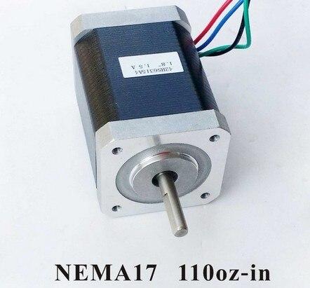 NEMA17 moteur pas à pas pour imprimante 3D 79N. cm (110 onz-in) longueur du corps 63mm CE Rohs Kit de CNC pas à pas