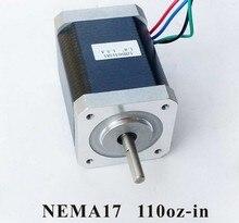 2pcs/lot NEMA17 Stepper Motor For 3D Printer 79N.cm (110 oz-in) Body Length 63mm CE Rohs CNC Kit Stepper