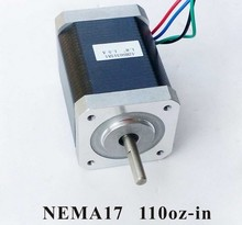 NEMA17 Stepper Motor For 3D Printer 79N.cm (110 oz-in) Body Length 63mm CE Rohs CNC Kit Stepper nema17 3d printer 3axis kit 28oz in stepper motor driver power supply mach3 breakout board for 3d printer diy kit