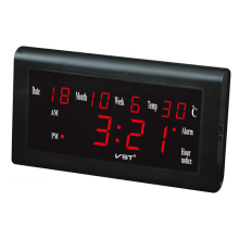 Modern LED Calendar Plastic Table Clock Digital LED Wall Clock Glowing Large Display Digital Desk Clocks Luminous Clock
