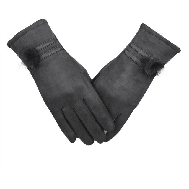 2017 Gloves Women Gloves Winter Warm Soft Wrist Gloves Black high quality SEP21