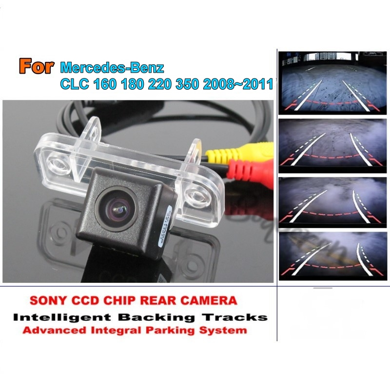 For Mercedes Benz CLC 160 180 220 350 2008~2011 Tracks Camera HD CCD Intelligent Dynamic Rear View Camera Car Parking Camera for renault duster 2010 2014 smart tracks chip camera hd ccd intelligent dynamic parking car rear view camera