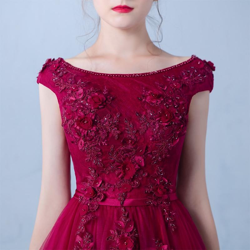 Κόκκινο βραδινό φόρεμα κρασιού Μακρύ - Ειδικές φορέματα περίπτωσης - Φωτογραφία 5