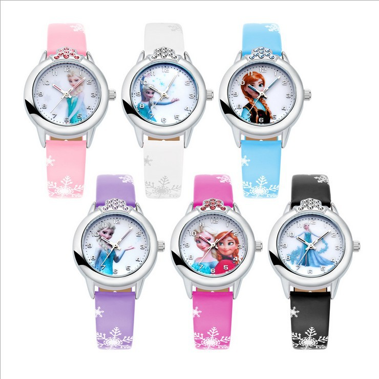 Relogio Feminino New Relojes Cartoon Children Watch Princess  Watches Fashion Kids Cute Rubber Leather Quartz Watch Girl #2