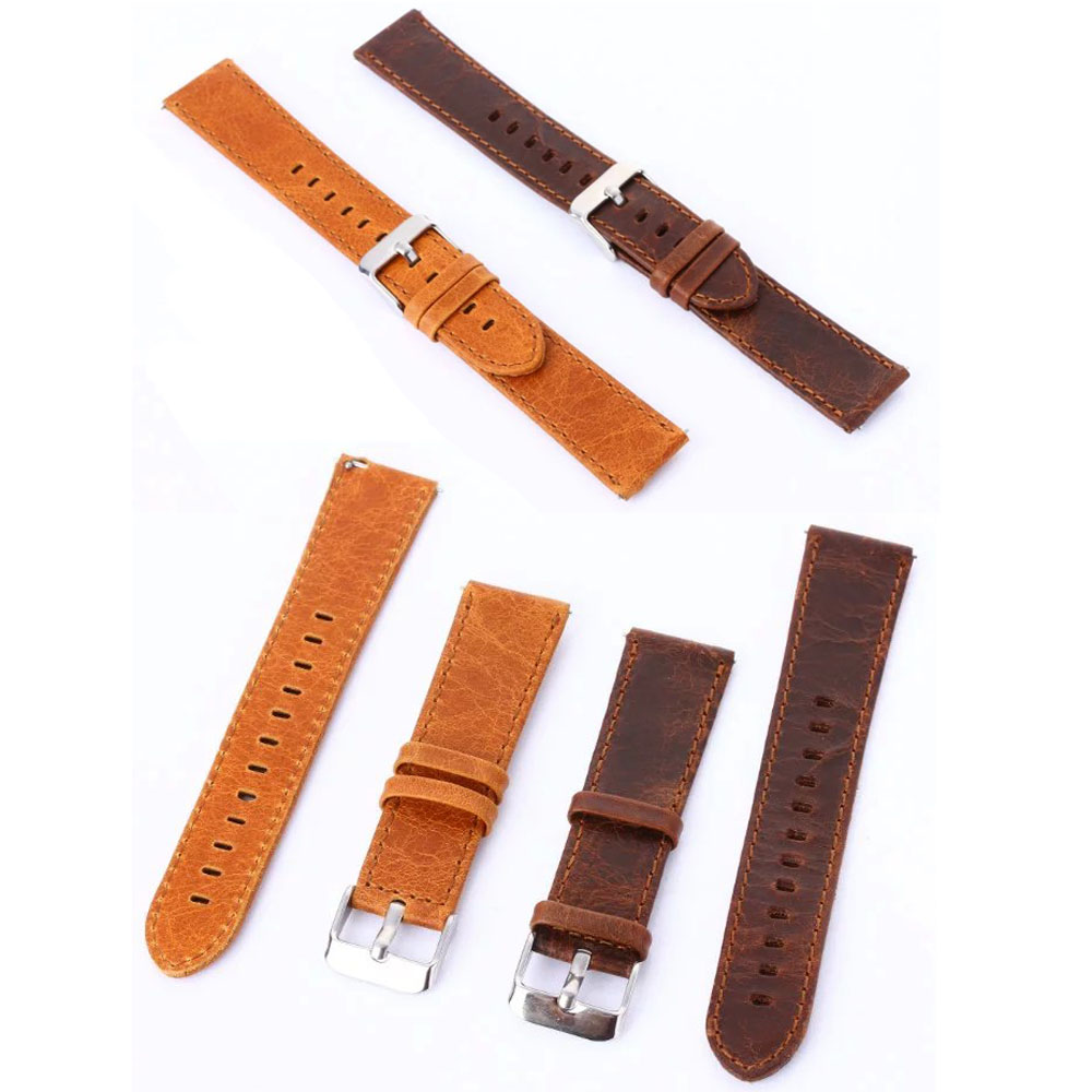 Coffee Brown Vintage Genuine Leather Watch Band Retro Replacement Strap For Samsung Gear S2 Classic SM-R732 Bracelet все цены