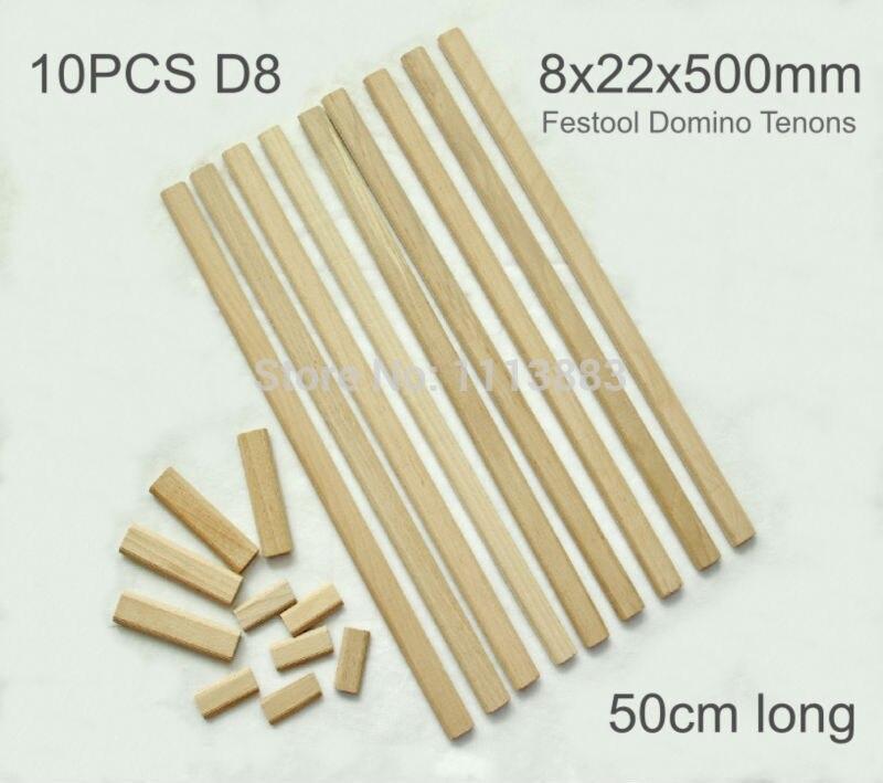 cena domino festoon 500 - 10PCS of 8x22x500mm Domino XL Beech Tenon Rod, Domino Dowels for Festool DF500
