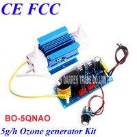Bo-5qnao ac220v/110 В 5 Гц/ч генератора озона Регулируемая кварцевой трубке kit оптом все виды генератора озона 0-60 вт регулируемый