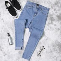 2018 spring Slim Jeans Skinny High Waist Jeans Women Blue Denim Pencil Stretch Women Jeans plus size 4colors