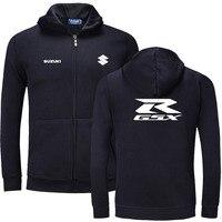 Suzuki logo zipper Sweatshirts Long Sleeve Zipper Hoodie cotton zipper Sweatshirt Jacket