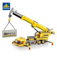 KAZI 8045 380 PCs City Engineering Construction Crane Car Brick Set Building Block Kids Toys City