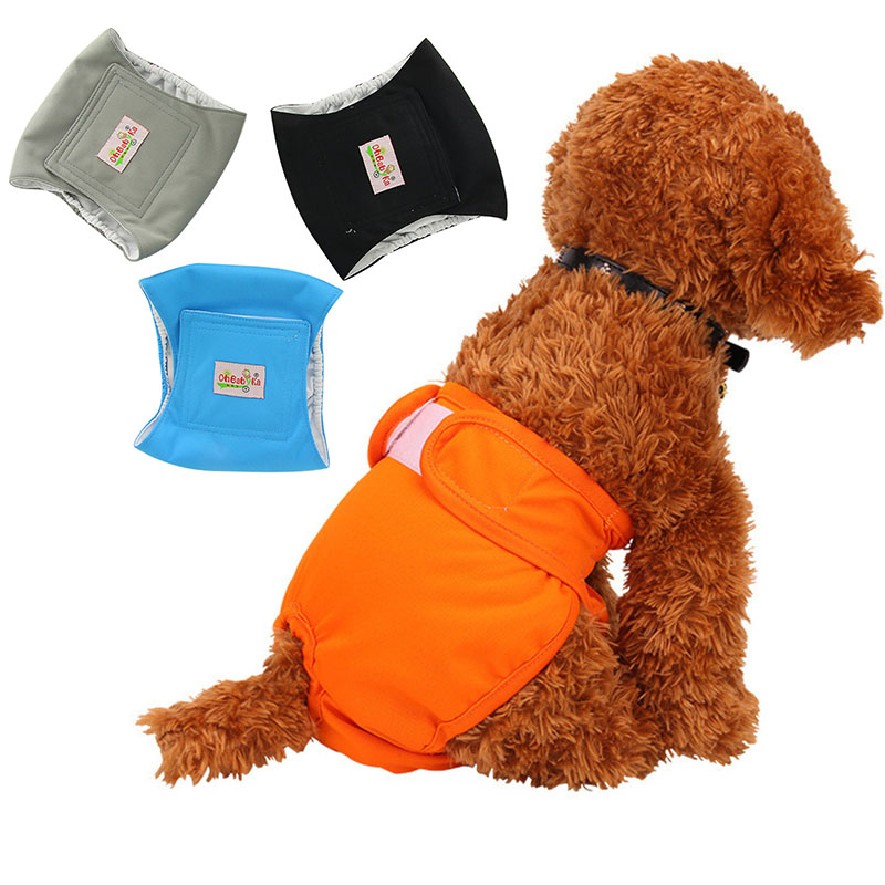 Male Dog Physiological Pants Solid Reusable Dog Nappies Changing Panties Durable Diaper Cover Washable Pet Dog Underwear Briefs