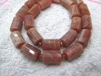Sunstone naturale pietra di Alta Qualità 12x16mm colonna in tubo Tondo sfaccettato perline gioielli oranger grigio