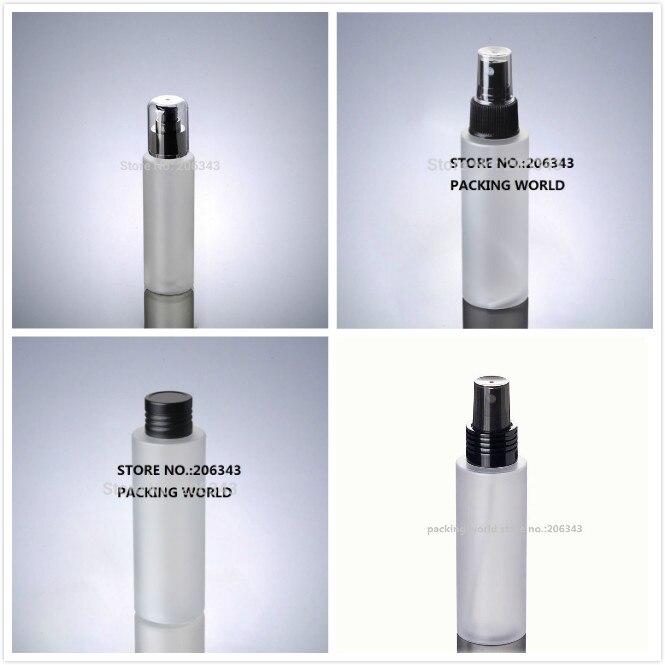 100ml frosted PET BOTTLE black lid pump mist sprayer for lotion emulsion water mist sprayer skin