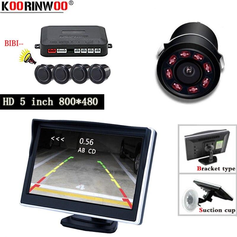 Koorinwoo беспроводной автомобильный Видимый Датчик парковки помощь радар-детектор комплект видео обратный 5