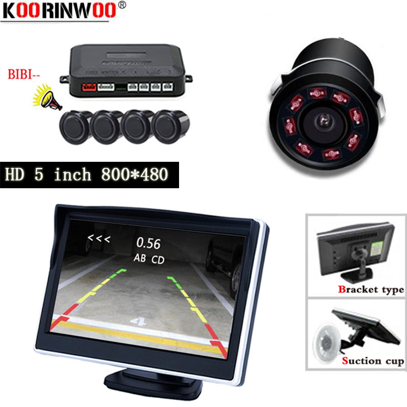 Koorinwoo sans fil voiture Visible Parking capteur Assistance Radar détecteur Kit vidéo inverse 5
