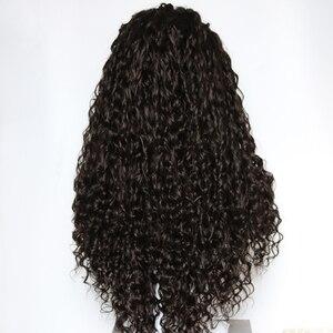 Image 5 - Парик Фэнтези красота 180% Тяжелая плотность волна воды синтетический кружевной передний парик термостойкие волоконные Длинные свободные вьющиеся парики для женщин